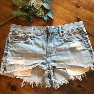 Hollister high waisted frayed shorts